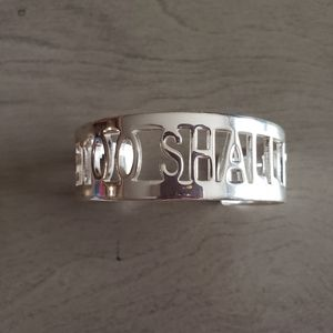 'This Too Shall Pass' Rustic Cuff Bracelet